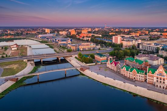 The center of Yoshkar-Ola, Russia from above, photo 21