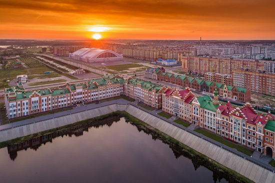 The center of Yoshkar-Ola, Russia from above, photo 23