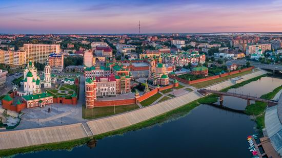 The center of Yoshkar-Ola, Russia from above, photo 25