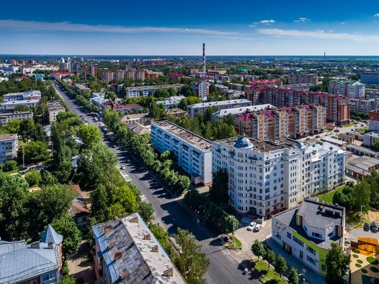 The center of Yoshkar-Ola, Russia from above, photo 5