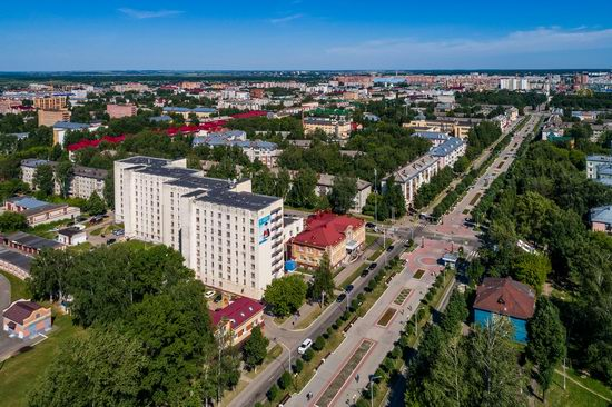 The center of Yoshkar-Ola, Russia from above, photo 6