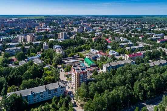 The center of Yoshkar-Ola, Russia from above, photo 7