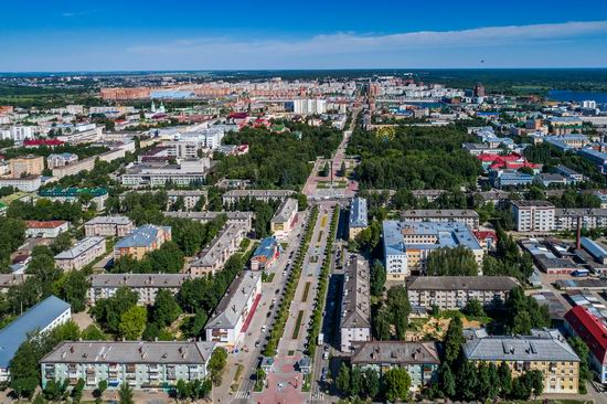 The center of Yoshkar-Ola, Russia from above, photo 8
