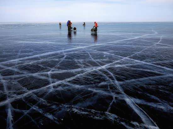 Frozen Lake Baikal, Russia