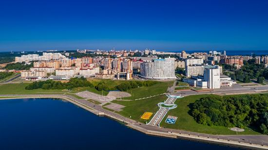 Cheboksary, Russia from above, photo 10