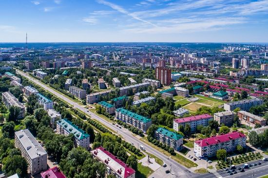 Cheboksary, Russia from above, photo 17