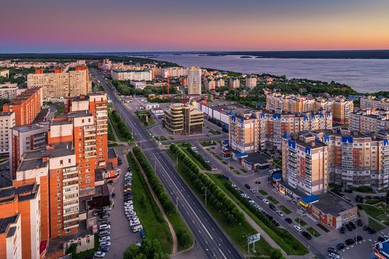 Cheboksary, Russia from above, photo 3
