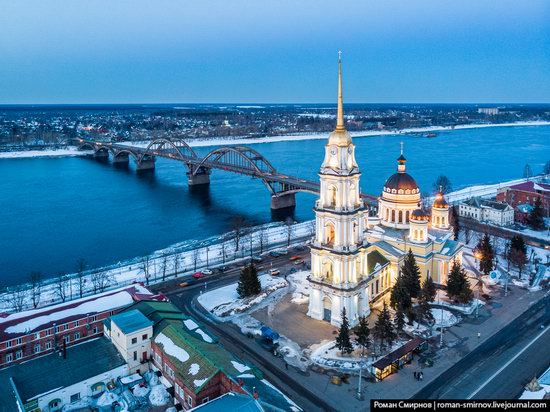 Rybinsk, Russia from above, photo 11