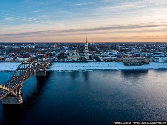 Rybinsk, Russia from above, photo 2
