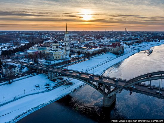 Rybinsk, Russia from above, photo 3