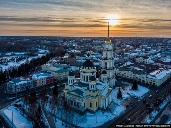 Rybinsk, Russia from above, photo 4