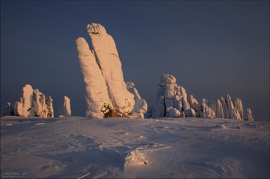 Snow Covered Stone Pillars of Ulakhan-Sis, Yakutia, Russia, photo 11