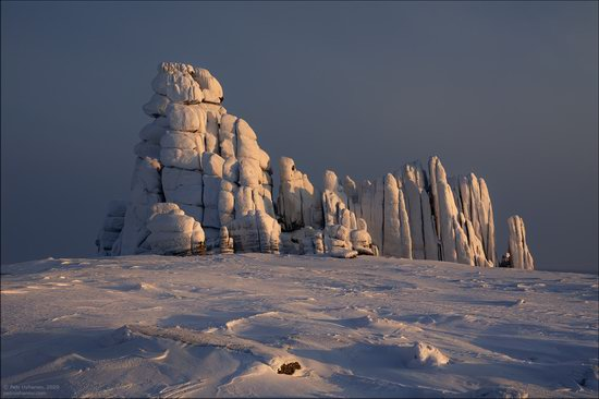 Snow Covered Stone Pillars of Ulakhan-Sis, Yakutia, Russia, photo 12