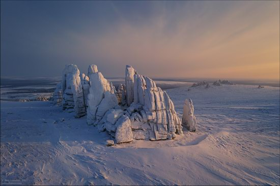Snow Covered Stone Pillars of Ulakhan-Sis, Yakutia, Russia, photo 13