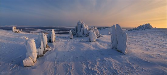 Snow Covered Stone Pillars of Ulakhan-Sis, Yakutia, Russia, photo 15