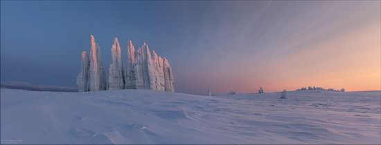 Snow Covered Stone Pillars of Ulakhan-Sis, Yakutia, Russia, photo 16