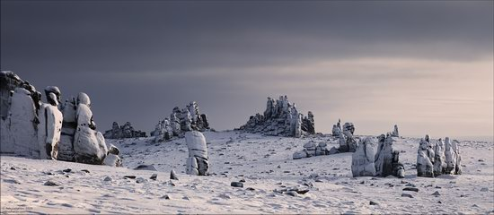 Snow Covered Stone Pillars of Ulakhan-Sis, Yakutia, Russia, photo 2