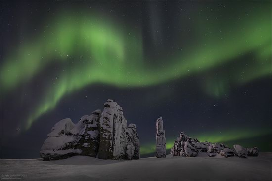 Snow Covered Stone Pillars of Ulakhan-Sis, Yakutia, Russia, photo 20