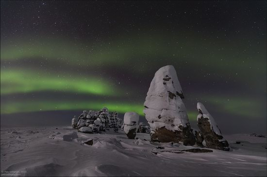 Snow Covered Stone Pillars of Ulakhan-Sis, Yakutia, Russia, photo 21