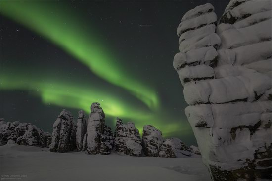 Snow Covered Stone Pillars of Ulakhan-Sis, Yakutia, Russia, photo 22
