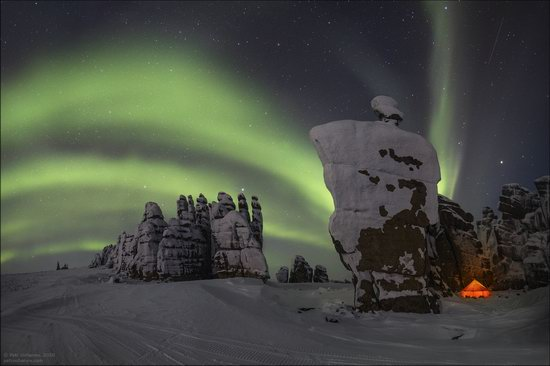 Snow Covered Stone Pillars of Ulakhan-Sis, Yakutia, Russia, photo 23