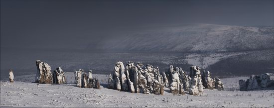 Snow Covered Stone Pillars of Ulakhan-Sis, Yakutia, Russia, photo 3