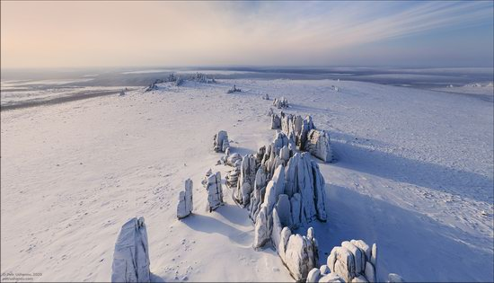 Snow Covered Stone Pillars of Ulakhan-Sis, Yakutia, Russia, photo 4