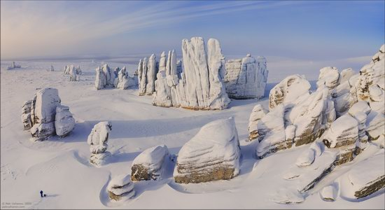 Snow Covered Stone Pillars of Ulakhan-Sis, Yakutia, Russia, photo 5