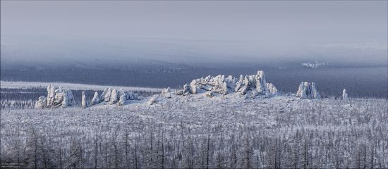 Snow Covered Stone Pillars of Ulakhan-Sis, Yakutia, Russia, photo 7