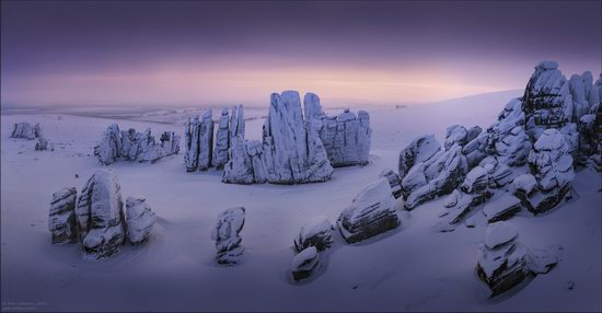Snow Covered Stone Pillars of Ulakhan-Sis, Yakutia, Russia, photo 8
