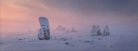 Snow Covered Stone Pillars of Ulakhan-Sis, Yakutia, Russia, photo 9