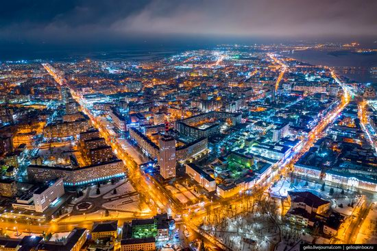Arkhangelsk, Russia from above, photo 1
