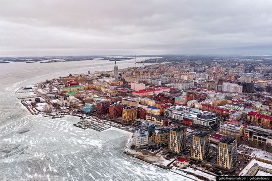 Arkhangelsk, Russia from above, photo 16