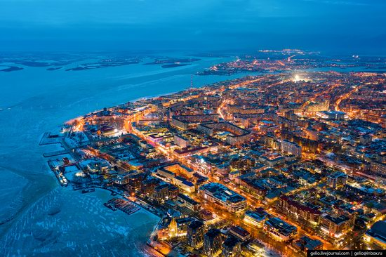 Arkhangelsk, Russia from above, photo 3
