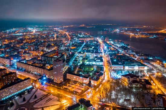 Arkhangelsk, Russia from above, photo 5