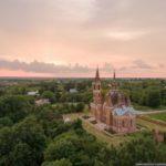 Pseudo-Gothic Orthodox Church in Veshalovka