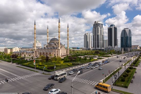 Mosque Heart of Chechnya in Grozny, Russia, photo 13