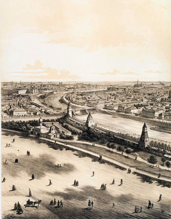 The Panorama of Moscow, Russia in 1847, picture 4