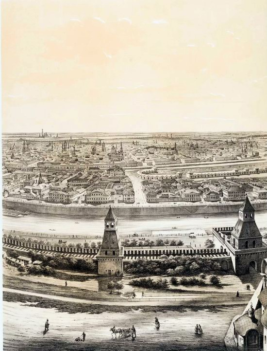 The Panorama of Moscow, Russia in 1847, picture 5