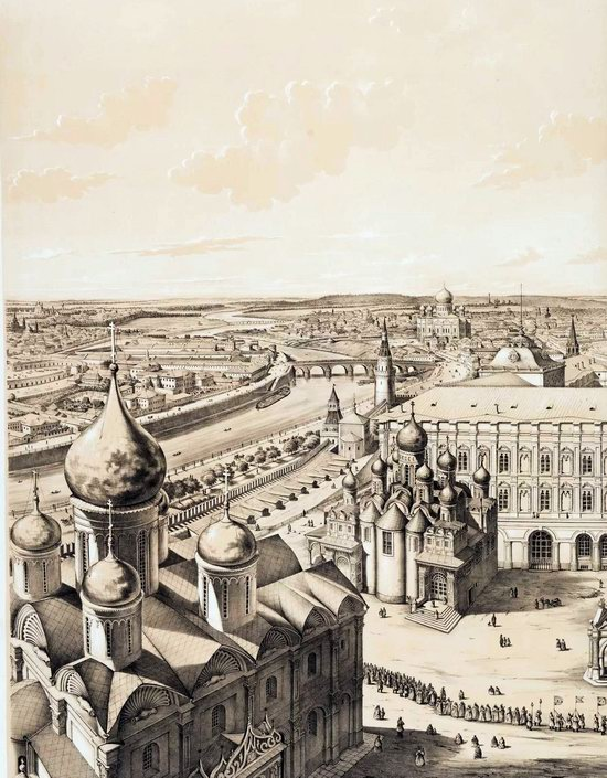The Panorama of Moscow, Russia in 1847, picture 6