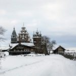 Snowy winter on Kizhi Island