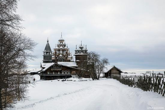 Snowy winter on Kizhi Island, Karelia, Russia, photo 1