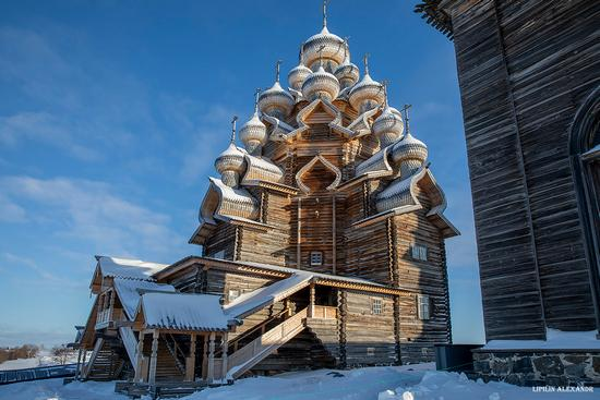 Snowy winter on Kizhi Island, Karelia, Russia, photo 10