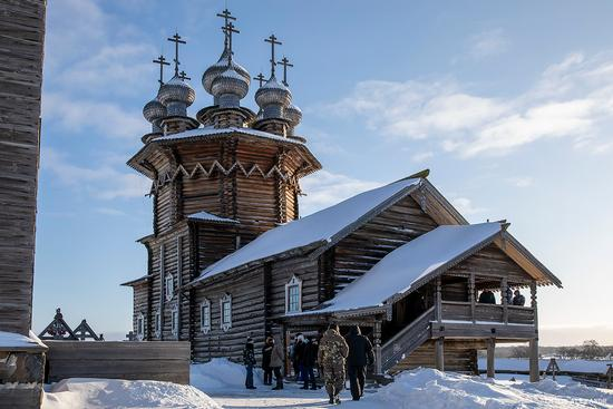Snowy winter on Kizhi Island, Karelia, Russia, photo 11