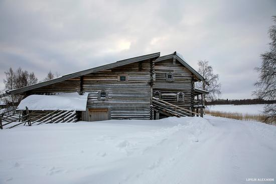 Snowy winter on Kizhi Island, Karelia, Russia, photo 3