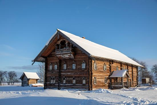 Snowy winter on Kizhi Island, Karelia, Russia, photo 8