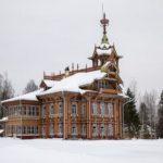 "Snow-covered ""Lesnoy Terem"" in Astashovo"