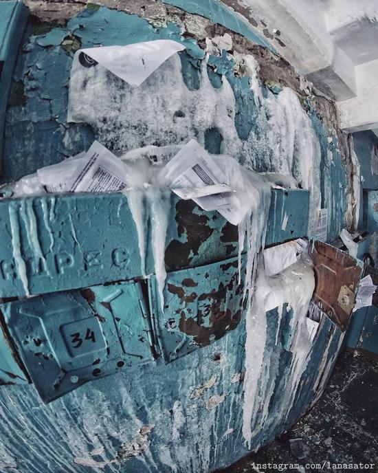 Frozen Abandoned Apartment Buildings in Vorkuta, Russia, photo 19