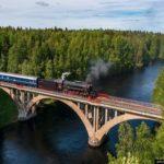 Ruskeala Express – a unique retro train in Karelia