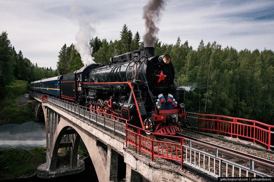 Ruskeala Express - a unique retro train in Karelia, Russia, photo 10